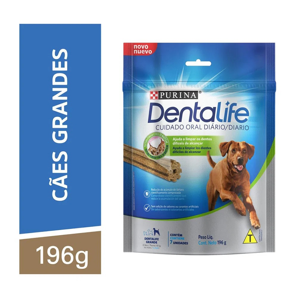 Petisco DentaLife Cães Adultos Grandes