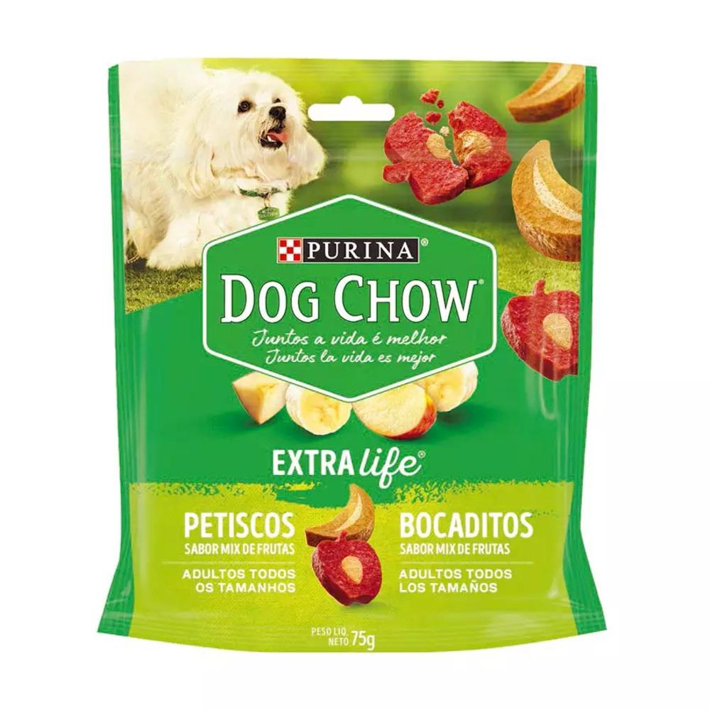 Petisco para Cães Adultos Purina Dog Chow Extralife sabor Mix de Frutas 75g