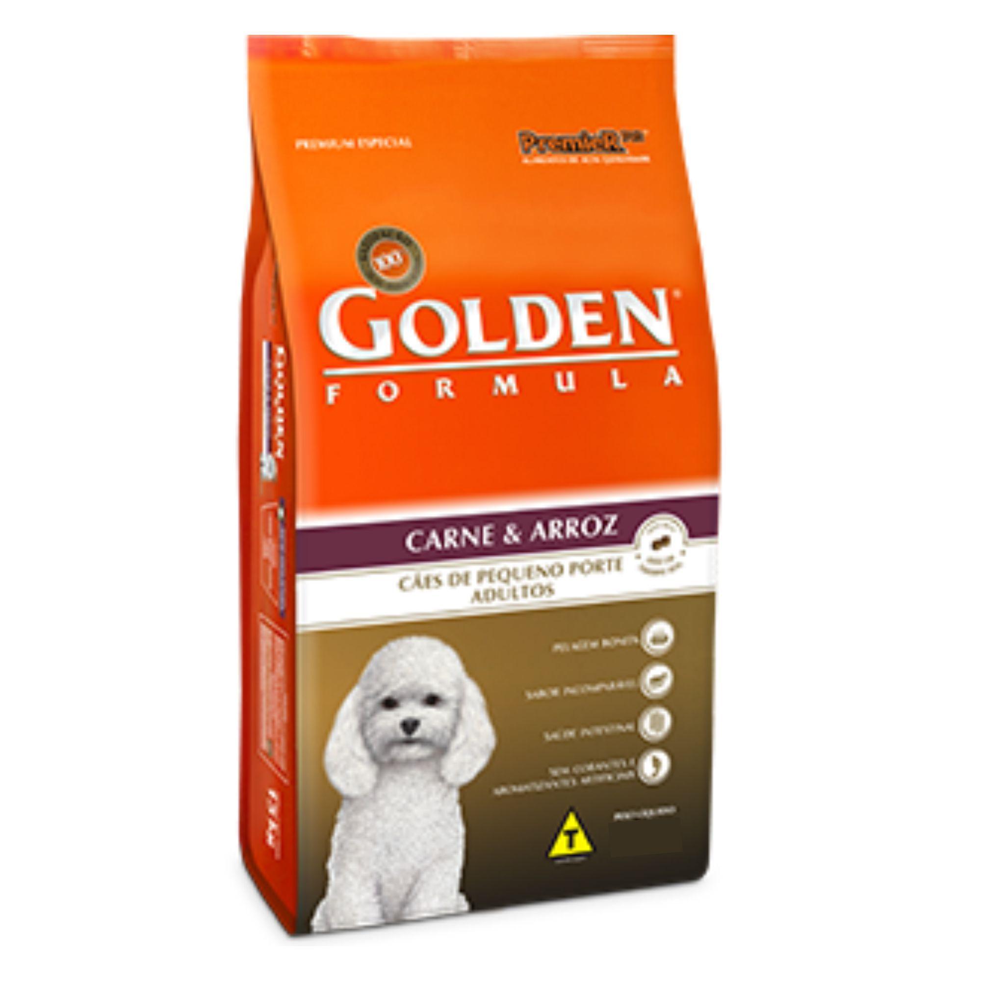 Ração Golden Formula Adultos Carne Mini Bits 1 kg - LEVE 3 E PAGUE 2