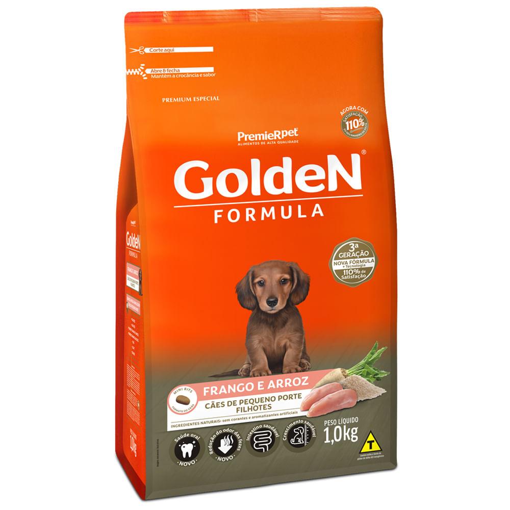 Ração Golden Fórmula Frango e Arroz para Cachorro Filhote Raças Pequenas