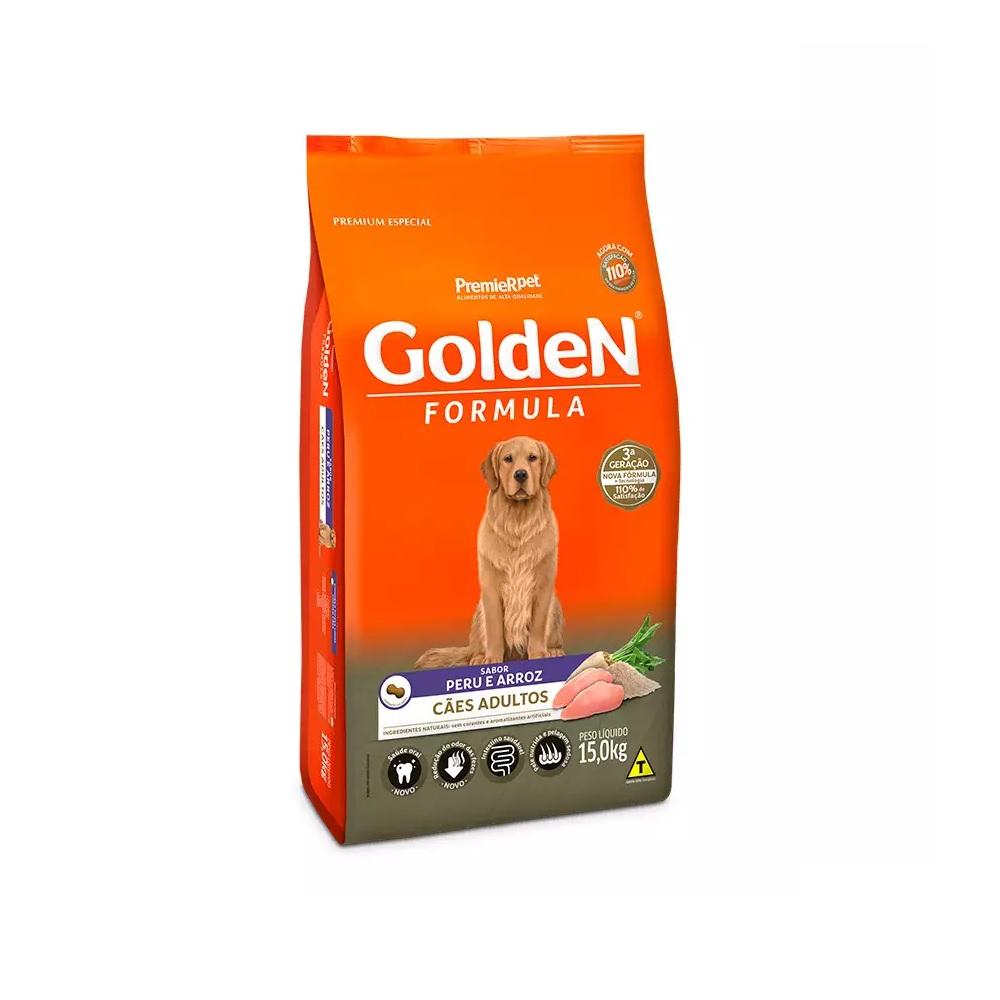 Ração Golden Formula Peru e Arroz para Cães Adultos 15kg