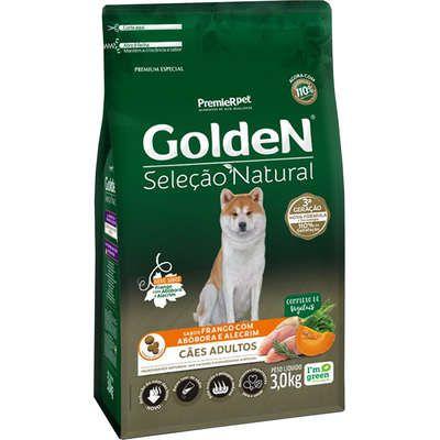 Ração Golden Premier Pet Seleção Natural Frango, Abóbora e Alecrim para Cães Adultos