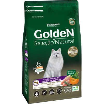 Ração Golden Premier Pet Seleção Natural Frango, Abóbora e Alecrim para Cães Adultos Raças Pequenas
