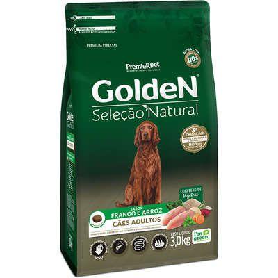Ração Golden Seleção Natural Cães Adultos Frango