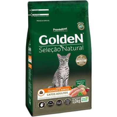 Ração Golden Seleção Natural Gatos Adultos Frango