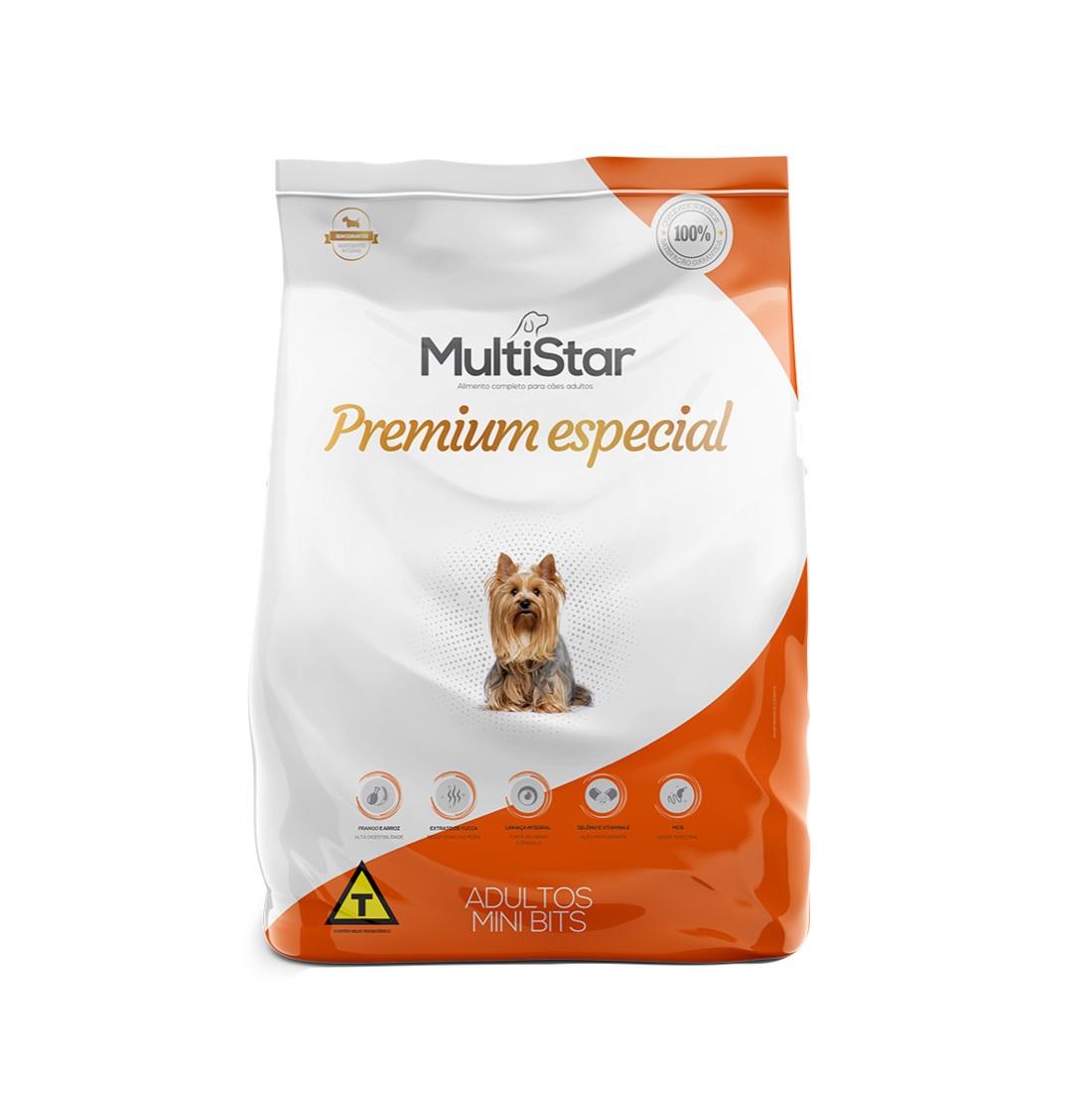 Ração Multi Star Cães Adultos Mini bits