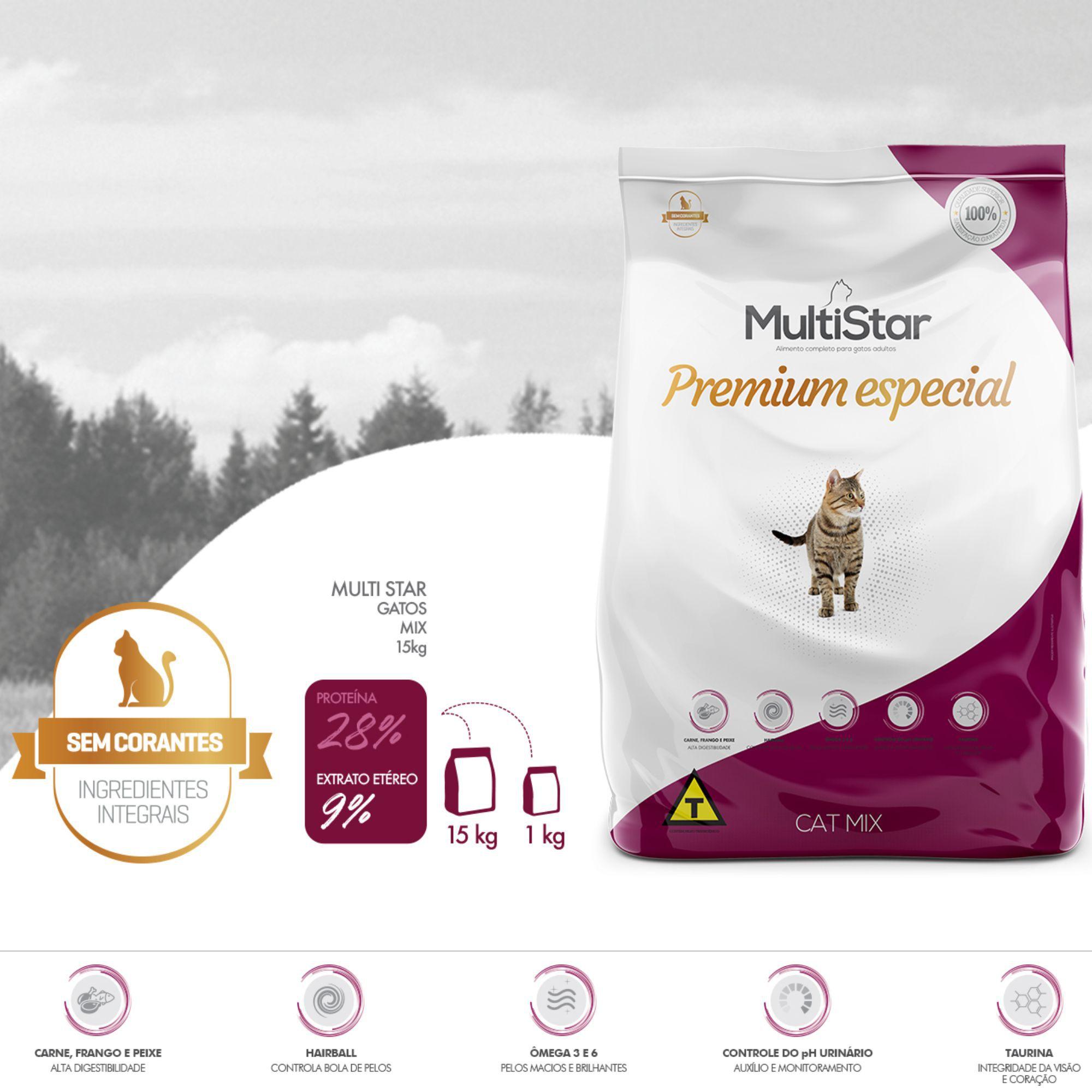 Ração Multi Star Cat Mix Premium Special