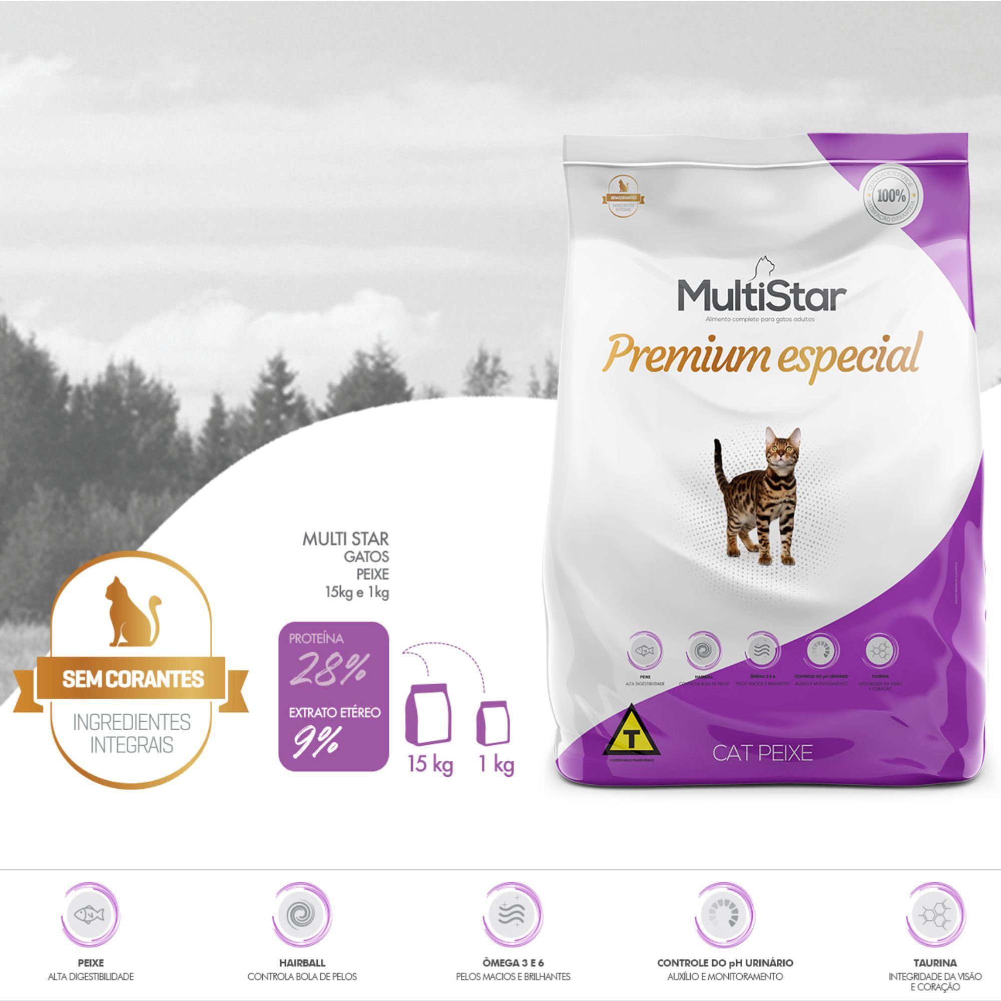 Ração Multi Star Cat Peixe Premium Special