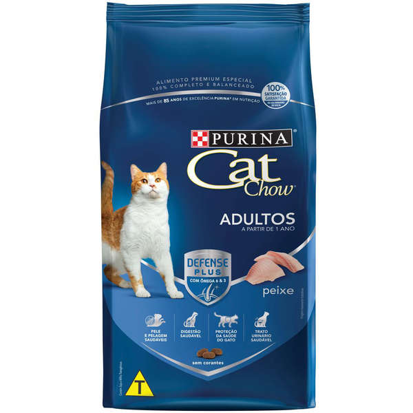 Ração Nestlé Purina Cat Chow Adultos Defense Plus Peixe 10,1kg (Disponível em 2 dias úteis)