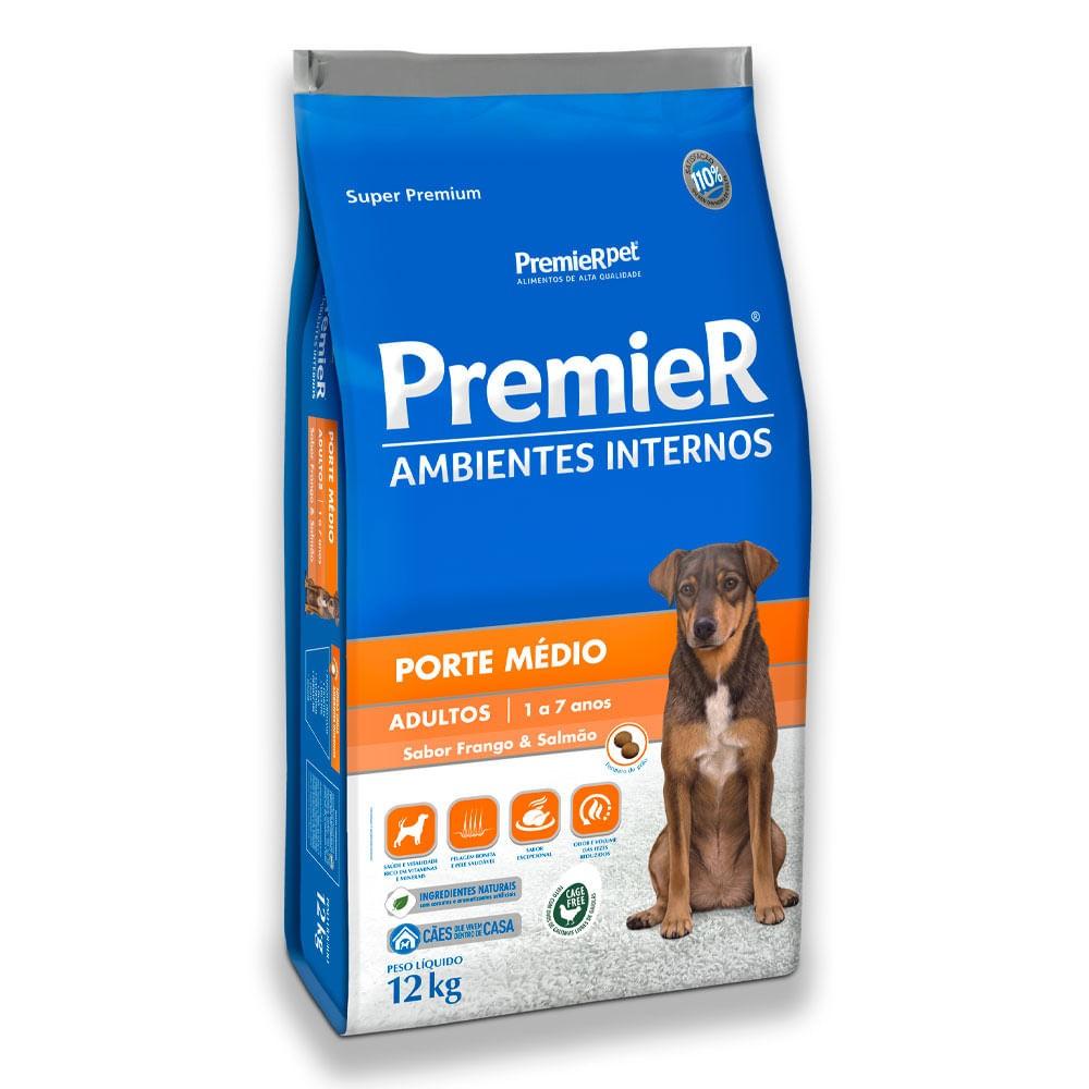 Ração Premier Ambiente Interno para Cães Adultos Porte Médio