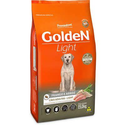Ração Premier Golden Cães Adultos Light Frango e Arroz 15 Kg