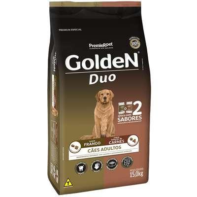 Ração Premier Golden DUO Cães Adultos Frango e Seleção de Carnes ao Molho 15Kg
