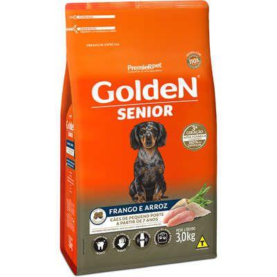 Ração Premier Golden Formula Cães Sênior Mini Bits Frango e Arroz