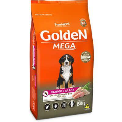 Ração Premier Golden Mega Cães Filhotes Raças Grandes Frango e Arroz 15kg