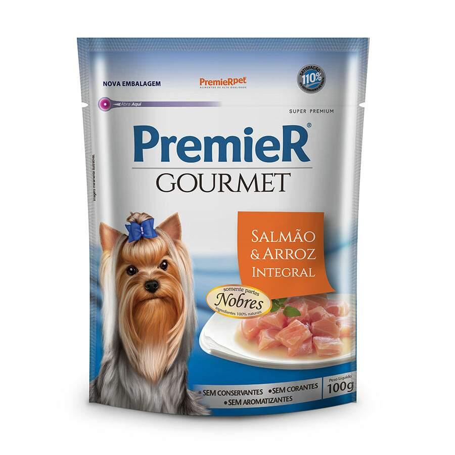Ração Premier Gourmet Sachê Salmão para Cães Adultos