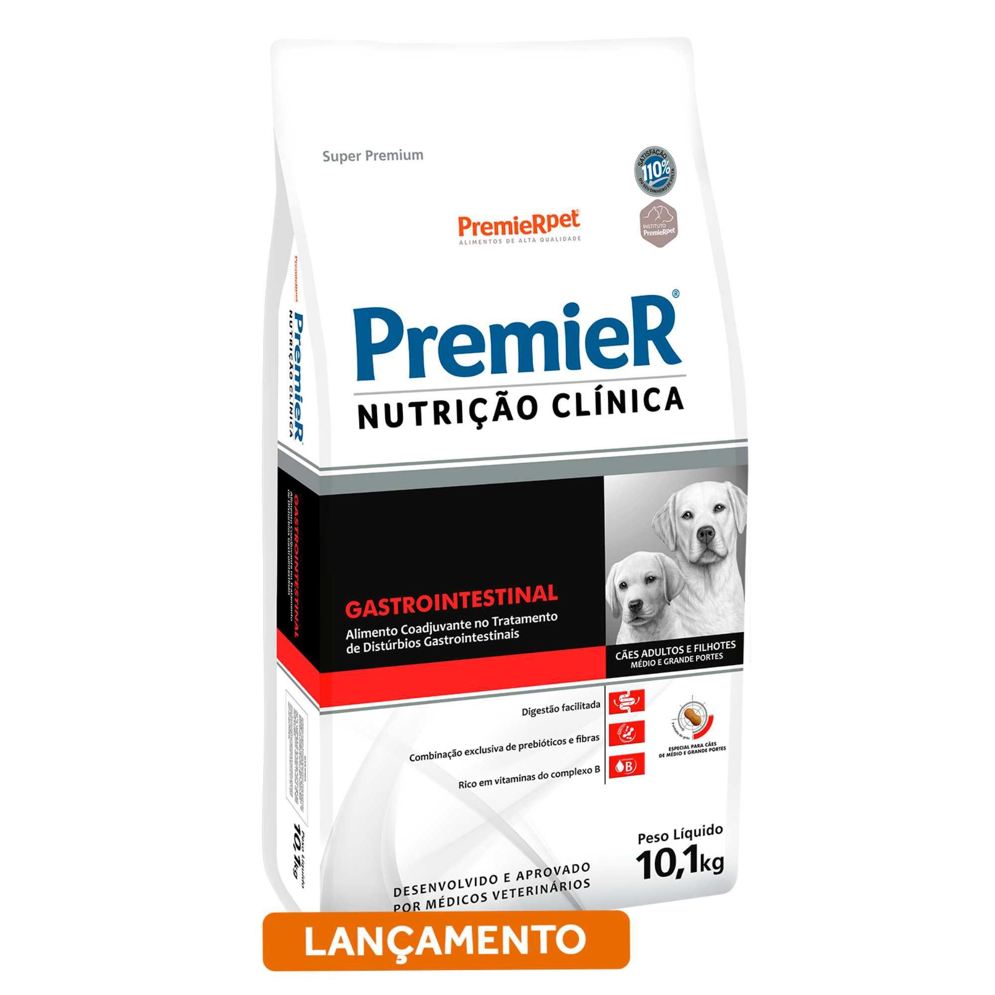 Ração Premier Nutrição Clínica Cães Gastrointestinal Médio/Grande Porte 10,1 Kg