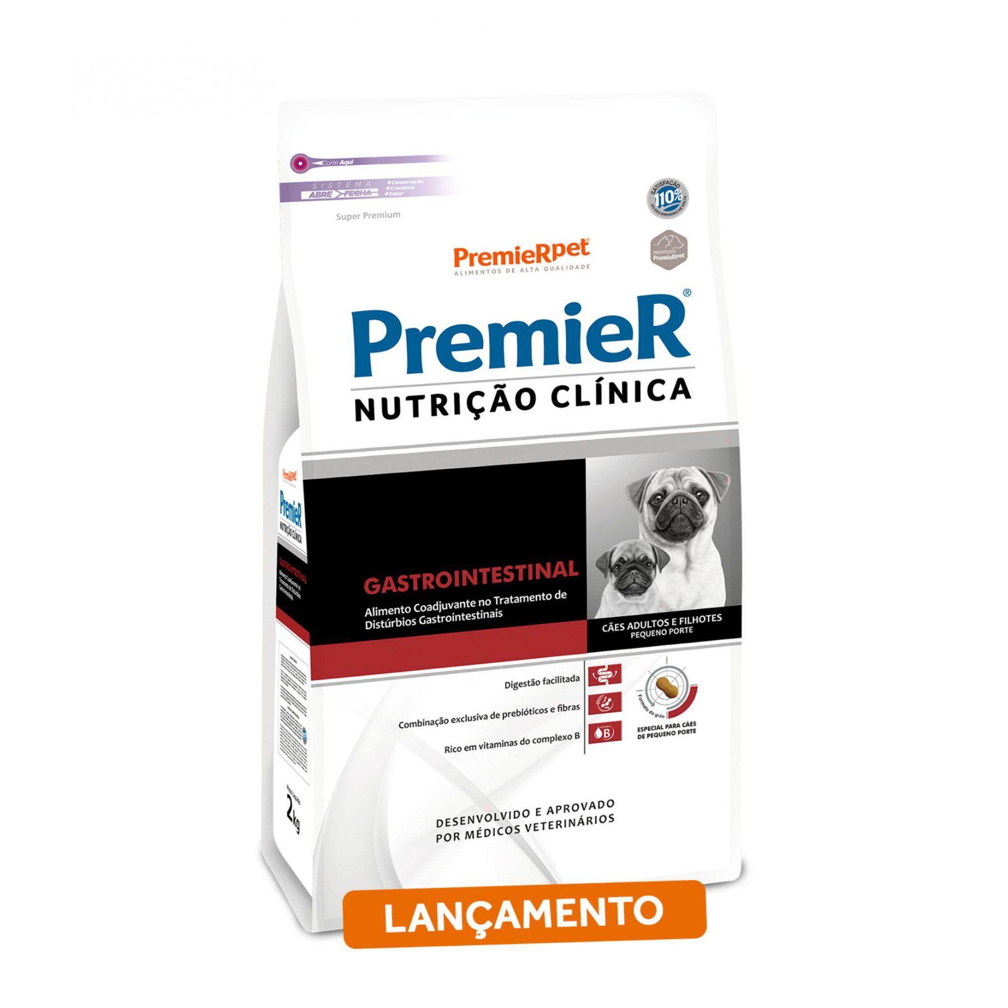 Ração Premier Nutrição Clínica Gastrointestinal para Cães Adultos de Pequeno Porte