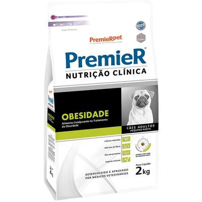 Ração Premier Nutrição Clínica Obesidade para Cães Adultos Pequeno Porte