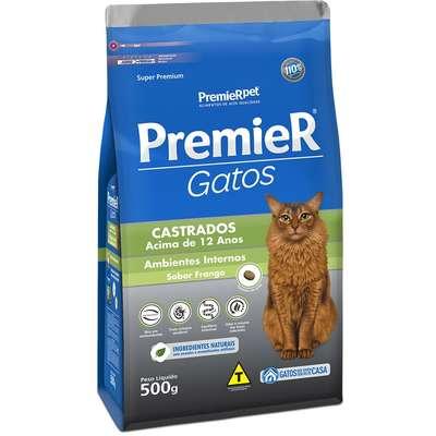 Ração Premier Pet Ambientes Internos Gatos Castrados Acima de 12 Anos Frango