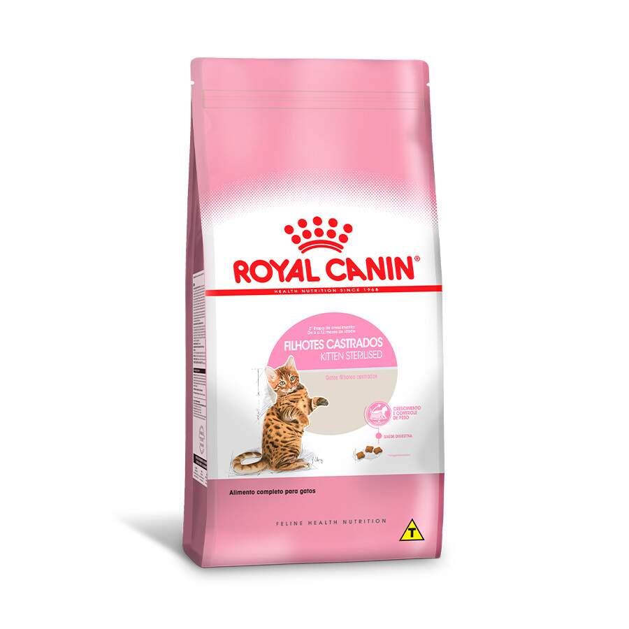 Ração Royal Canin Feline Health Nutrition Kitten Sterilised para Gatos Filhotes Castrados de 6 a 12 meses