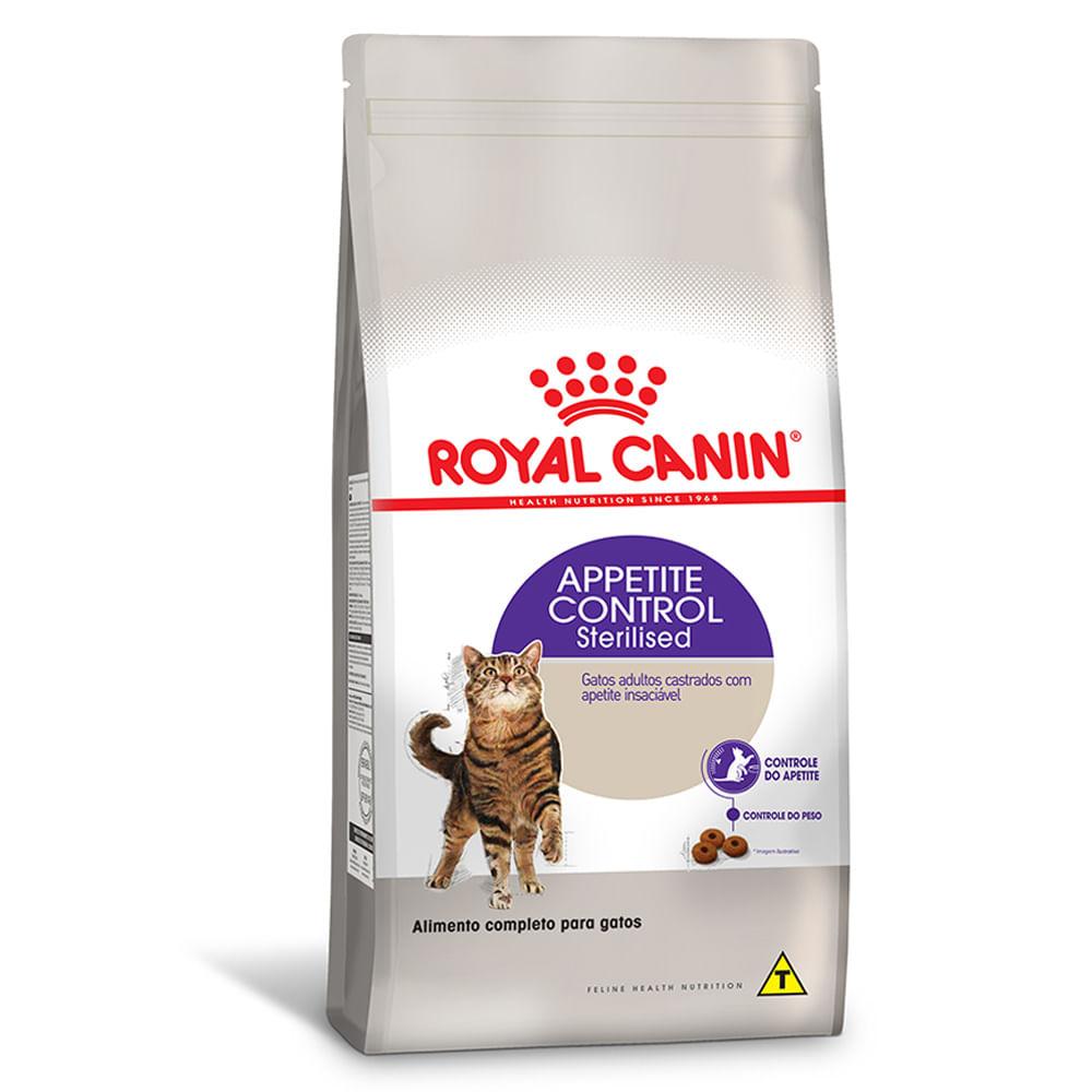 Ração Royal Canin Feline Health Nutrition Sterilised Appetite Control para Gatos Adultos Castrados