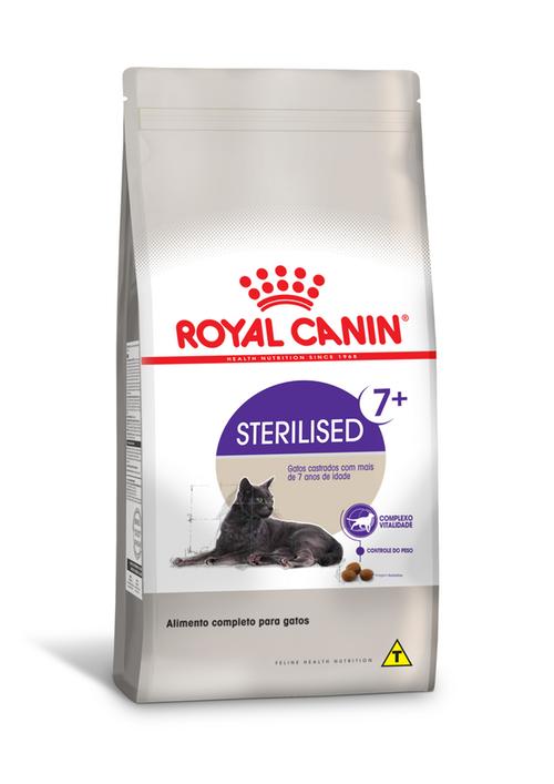 Ração Royal Canin Feline Health Nutrition Sterilised para Gatos Adultos Castrados Acima de 7 anos