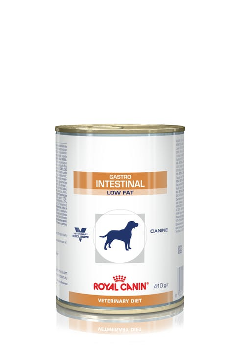 Ração Royal Canin Lata Canine Veterinary Gastro Intestinal Low Fat Wet para Cães 410g