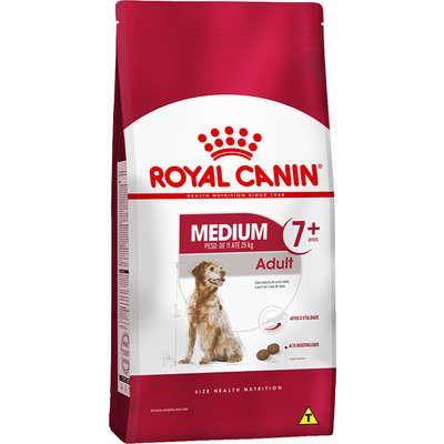 Ração Royal Canin Medium Adult 7+ para Cães Adultos de Raças Médias com 7 Anos ou mais 15kg