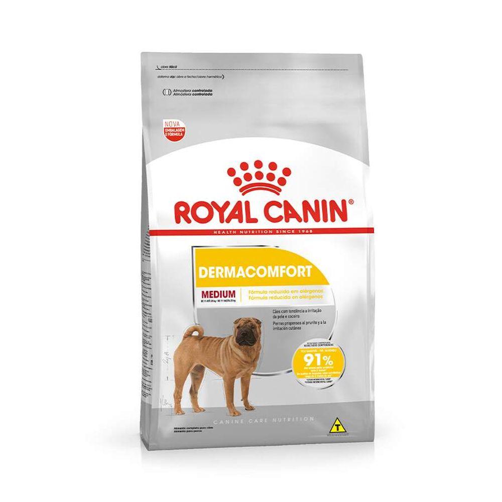 Ração Royal Canin Medium Dermacomfort para Cães Adultos ou Idosos de Raças Médias