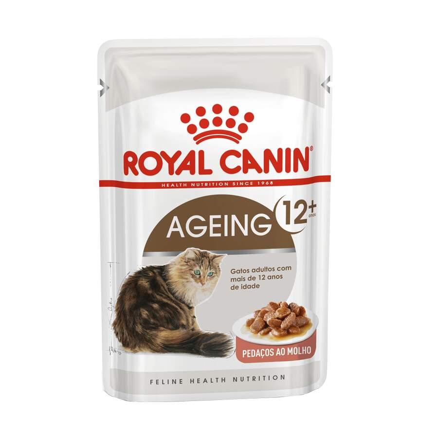 Ração Royal Canin Sachê Feline Health Nutrition Ageing +12 para Gatos Idosos 85g
