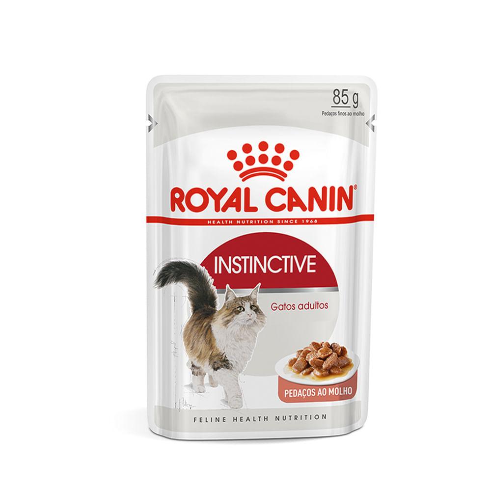 Ração Royal Canin Sachê Feline Instinctive para Gatos com idade acima de 12 meses 85g