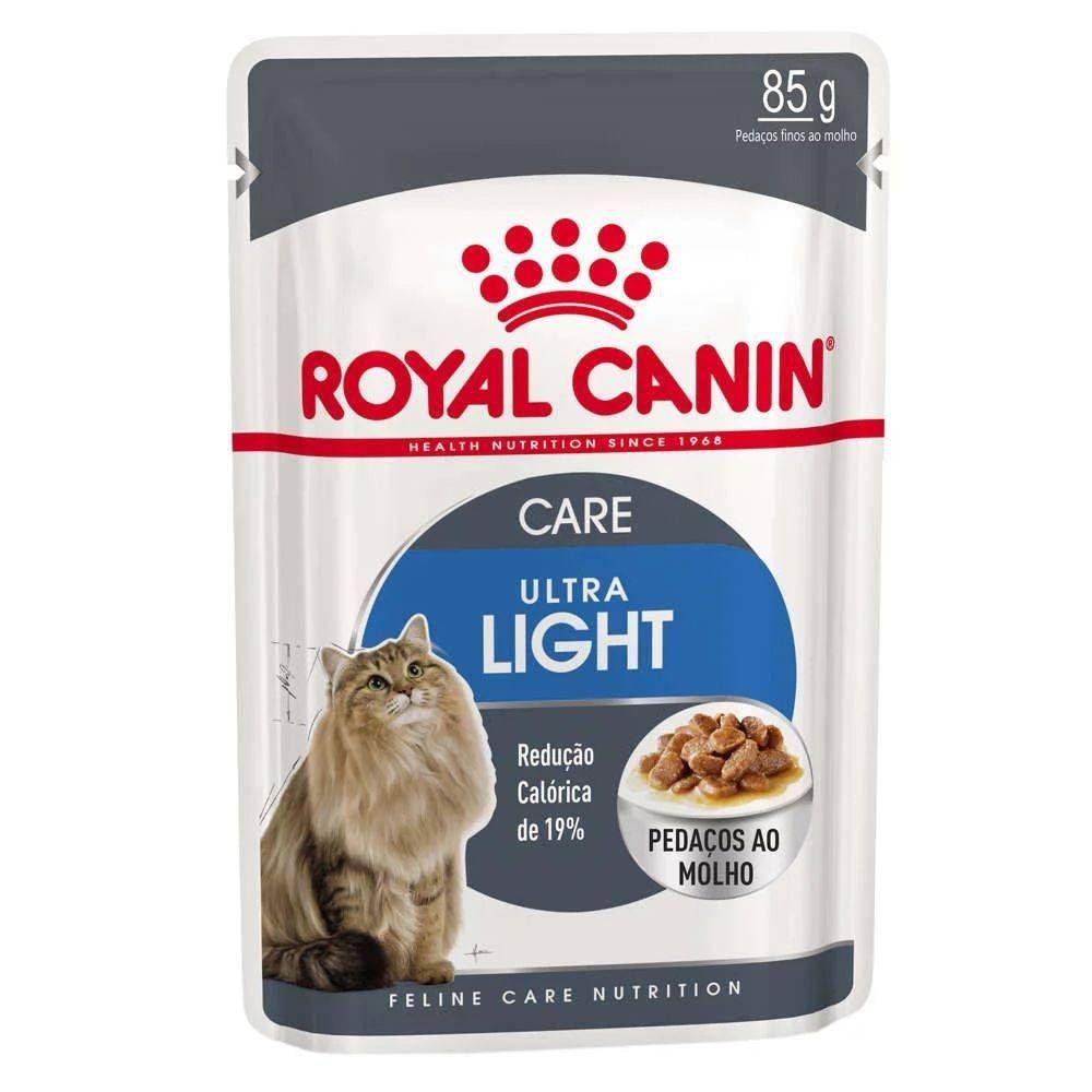 Ração Royal Canin Sachê Feline Ultra Light para Gatos Adultos 85g
