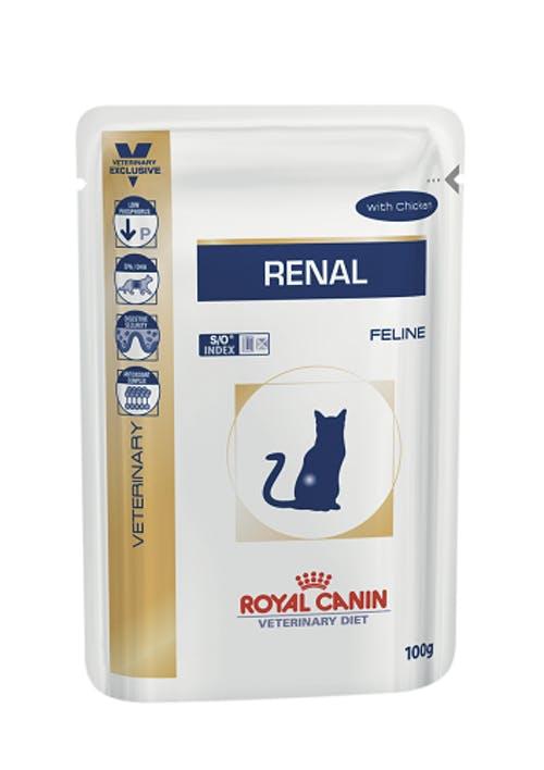 Ração Royal Canin Sachê para Gatos Veterinary Renal S/O Feline Wet 85g