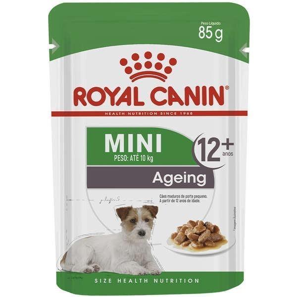Ração Royal Canin Sachê Size Health Nutrition Puppy Mini Wet Raças Pequenas a partir de 12 Anos de Idade 85g