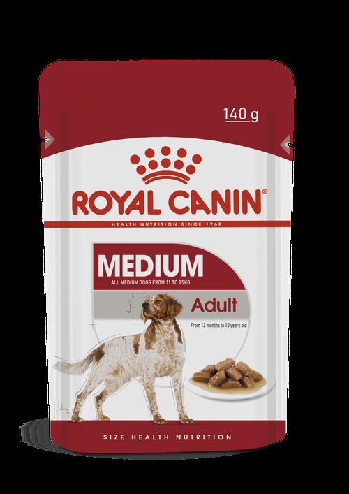 Ração Royal Canin Sachê Size Health Nutrition Puppy Wet para Cães Adultos Raças Médias 140g