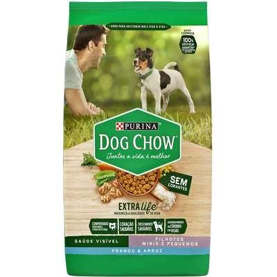 Ração Seca Nestlé Purina Dog Chow Extra Life Frango e Arroz Cães Filhotes Raças Minis e Pequenas 15Kg