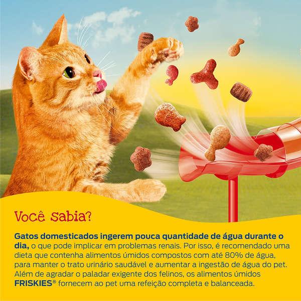 Ração Úmida Friskies para Gatos - Frango ao Molho - 85g