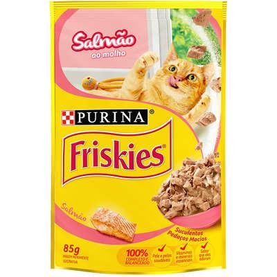 Ração Úmida Friskies para Gatos - Salmão ao Molho - 85g