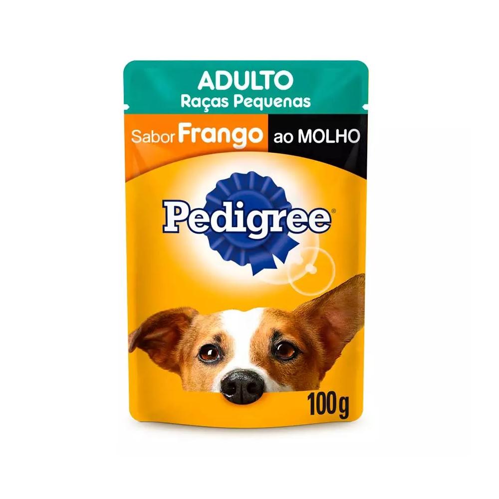 Ração Úmida Pedigree Sachê Frango ao Molho para Cães Adultos de Raças Pequenas 100g