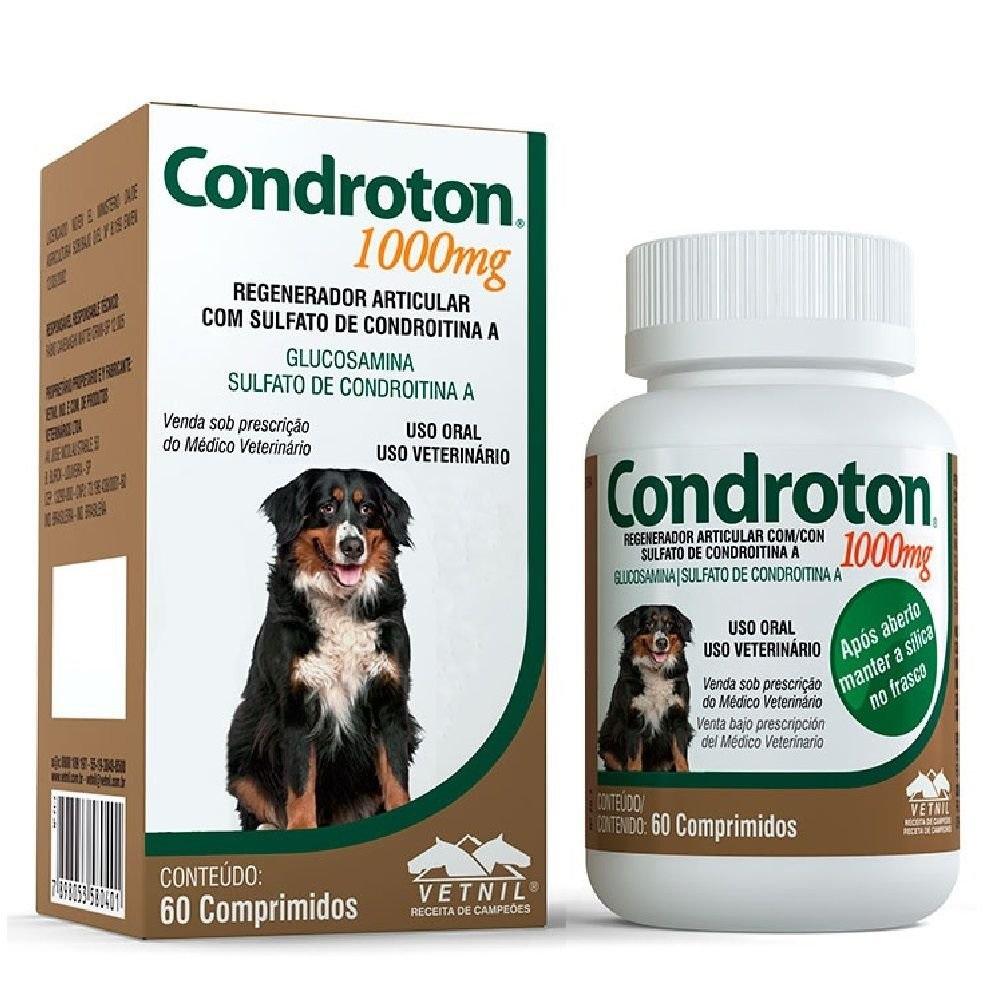 Regenerador Articular Vetnil Condroton 1000mg 60 Comprimidos