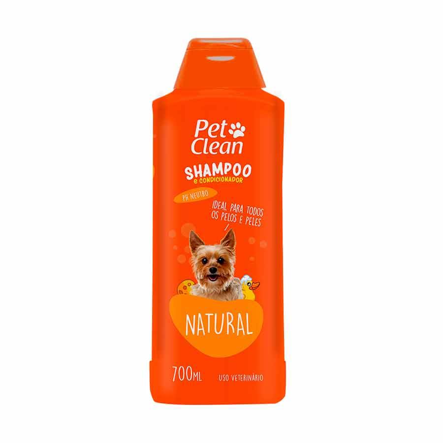 Shampoo e Condicionador Pet Clean Natural para Cães e Gatos 700 ML