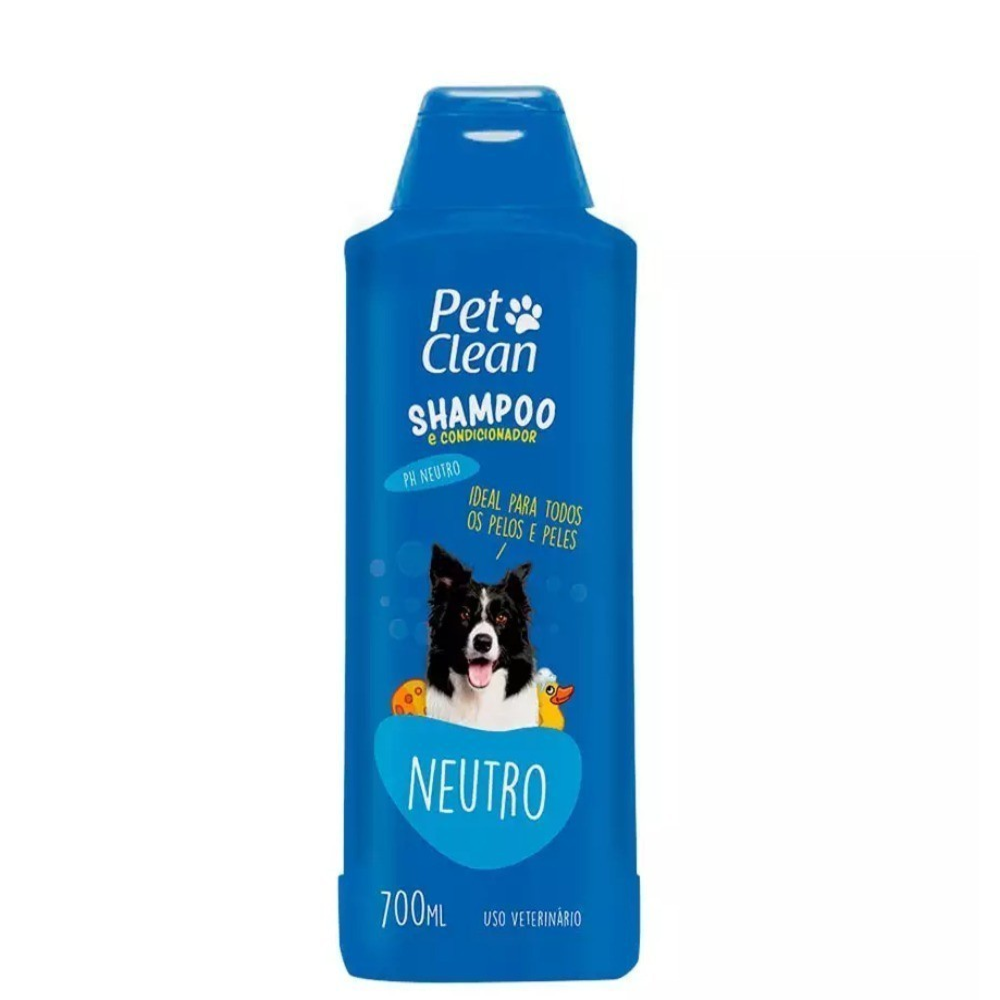 Shampoo e Condicionador Pet Clean Neutro para Cães e Gatos 700Ml
