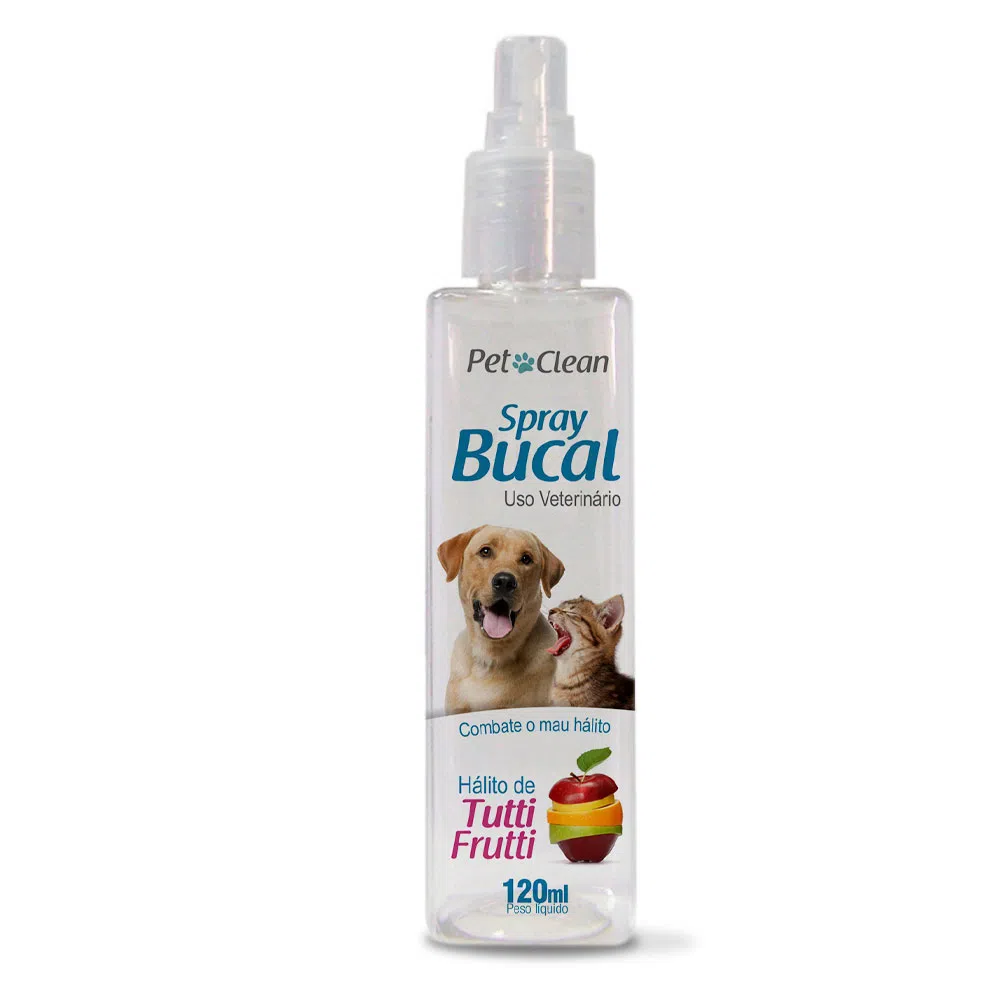 Spray Bucal Pet Clean Sabor Tutti frutti para Cães e Gatos - 120 mL
