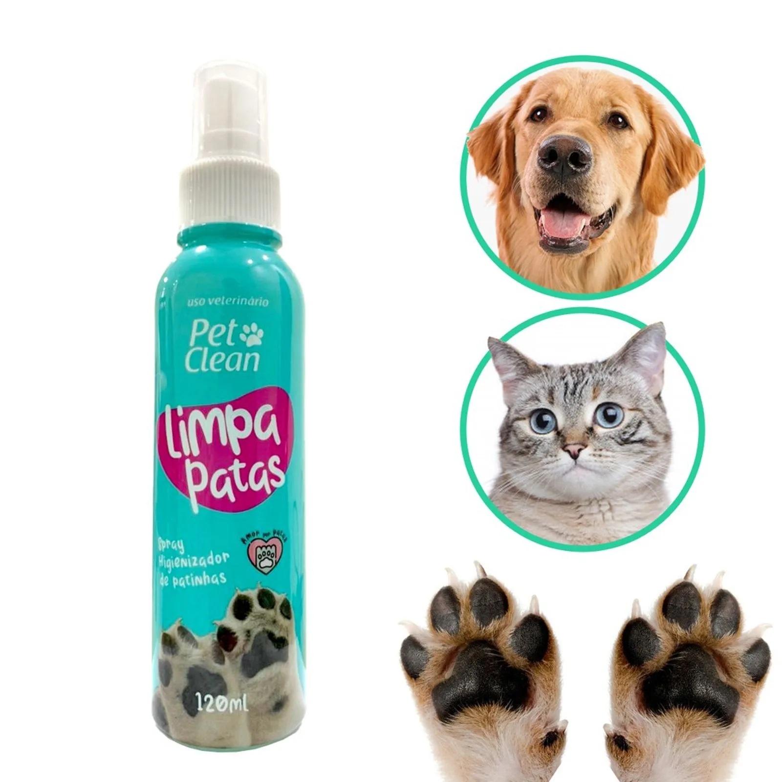 Spray Higienizador de Patas - Limpa Patas Pet Clean 120 ML