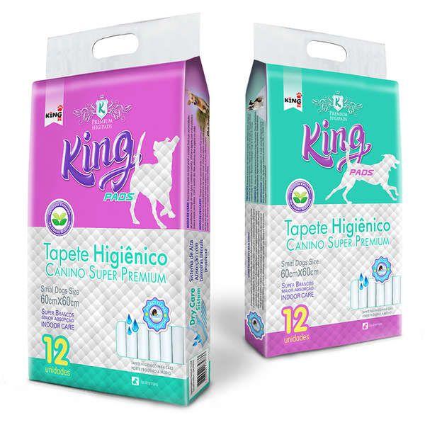 Tapete Higiênico King Pads Canino Super Premium - 12 unidades