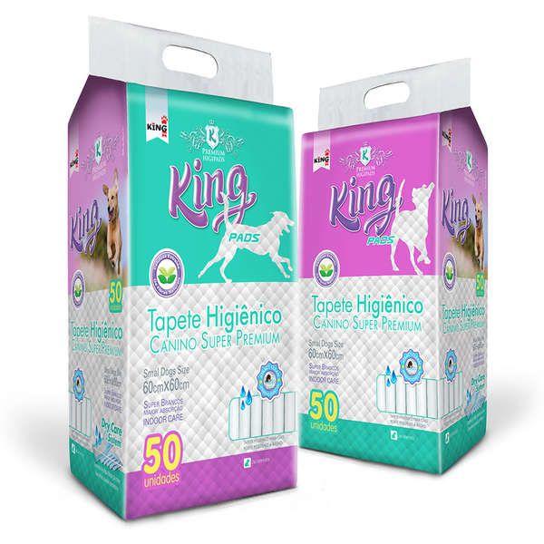 Tapete Higiênico King Pads Canino Super Premium - 50 unidades