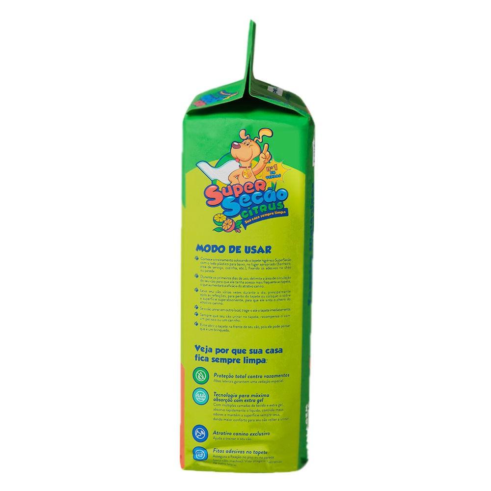 Tapete higiênico Super Secão Citrus - 30 unidades