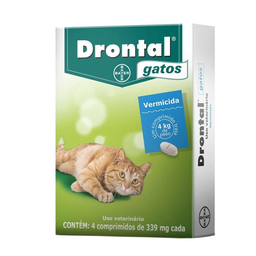 Vermífugo Drontal Gatos 4 Kg - 4 Comprimidos