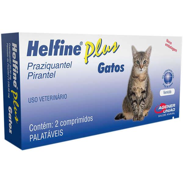Vermífugo Helfine Plus para Gatos - 2 comprimidos