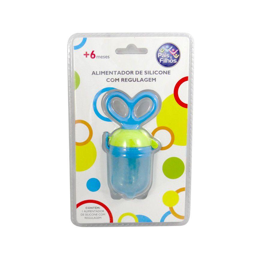 Alimentador de bebê com ponta de silicone e regulagem Pais & Filhos